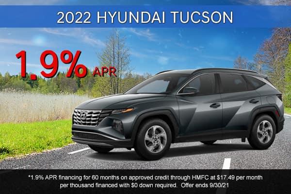SPECIAL New 2022 Hyundai Tucson