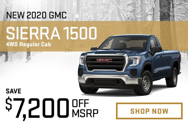 New 2020 GMC Sierra 1500 4WD Regular Cab