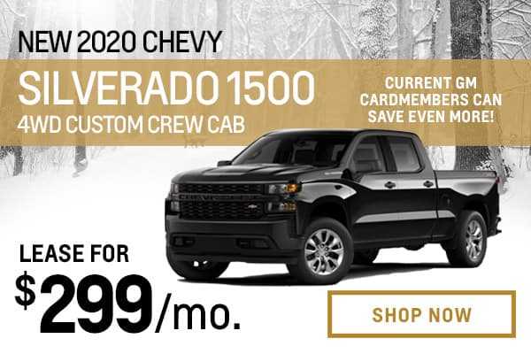 New 2020 Chevy Silverado 1500 4WD Custom Crew Cab