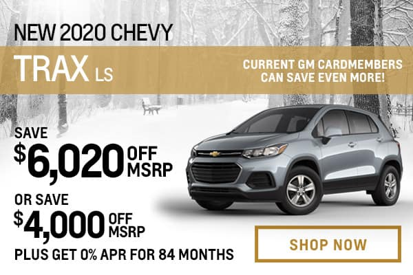 New 2020 Chevy Trax LS