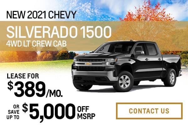 New 2021 Chevy Silverado 1500 4WD LT Crew Cab