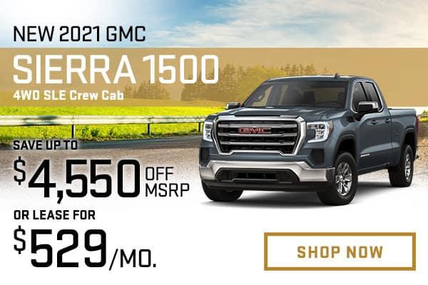 2021 GMC Sierra 1500 4WD SLE Crew Cab