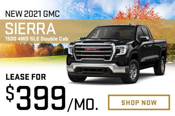 New 2021 GMC Sierra 1500 4WD SLE Double Cab