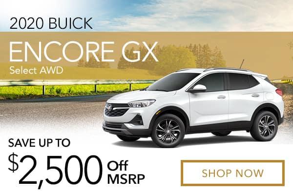 New 2020 Buick Encore GX Select AWD