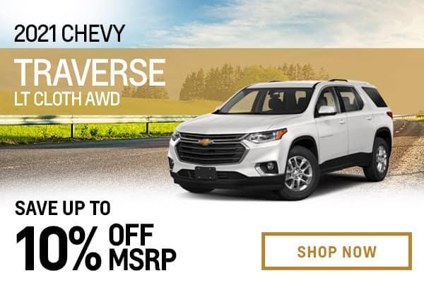 2021 Chevy Traverse LT Cloth AWD