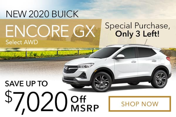 New 2020 Buick Encore GX Select AWD