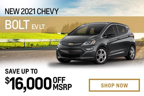 New 2021 Chevy Bolt EV LT