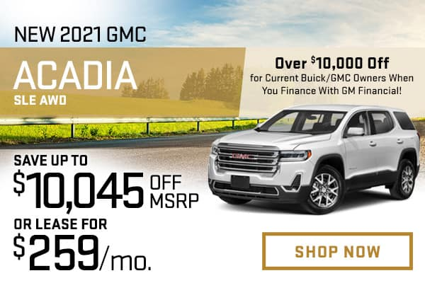 New 2021 GMC Acadia SLE AWD