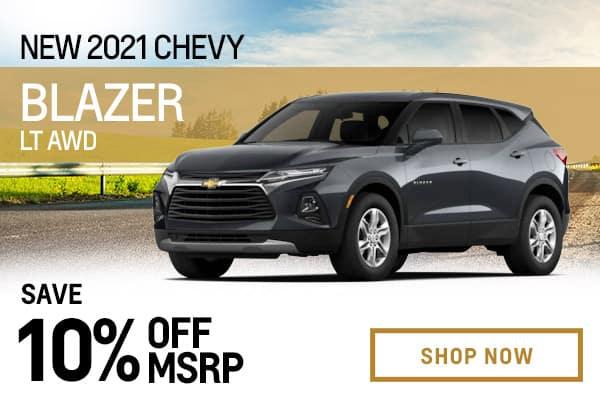 New 2021 Chevy Blazer LT AWD