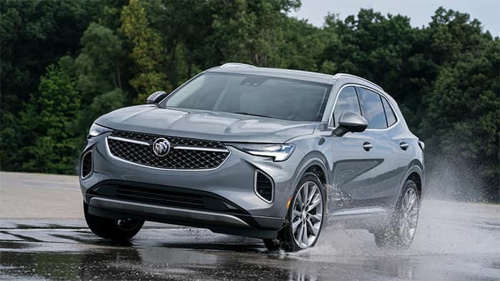 Buick Envision Driving on Wet Pavement