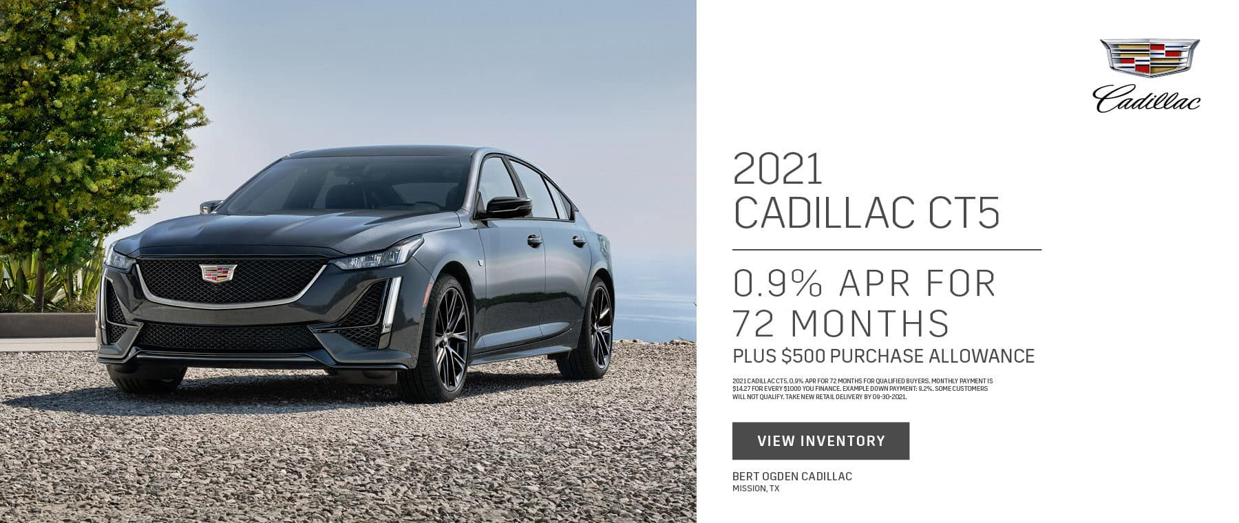 2021 Cadillac CT5 APR Offer Plus Purchase Allowance   Bert Ogden Cadillac in Mission, Texas