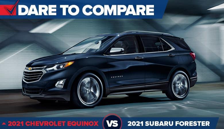 2021 Chevrolet Equinox vs. 2021 Subaru Forester | Bert Ogden Chevrolet | Mission, TX