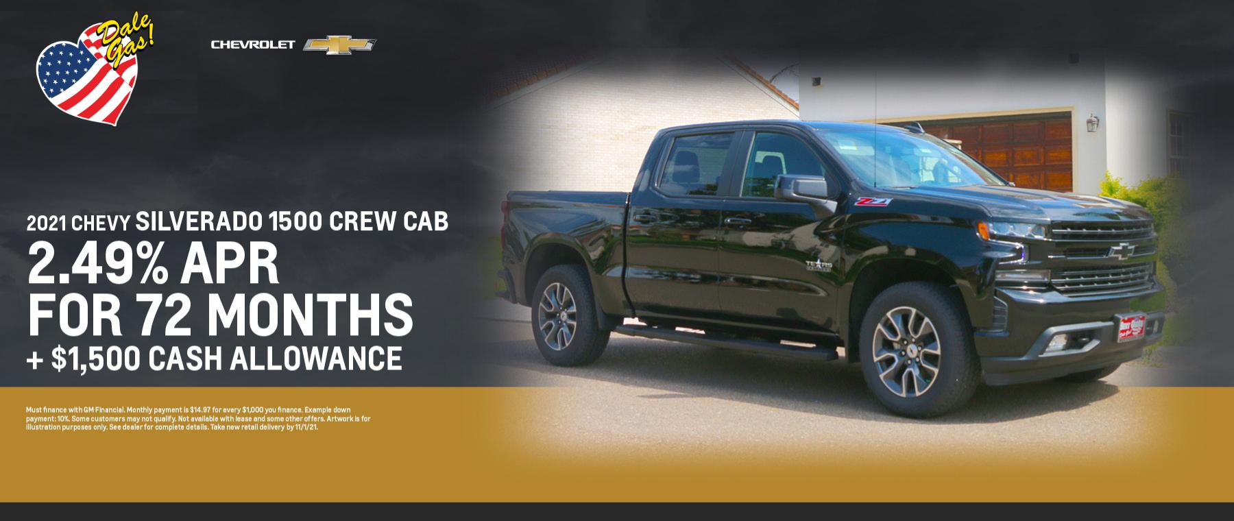 2021 Chevrolet Silverado 1500 Crew Cab Offer - October 2021