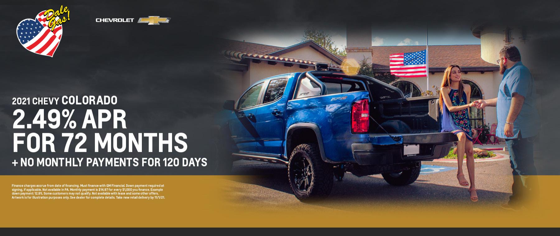 2021 Chevrolet Colorado Offer - October 2021