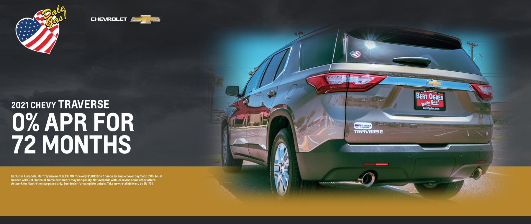 2021 Chevrolet Traverse Offer - October 2021