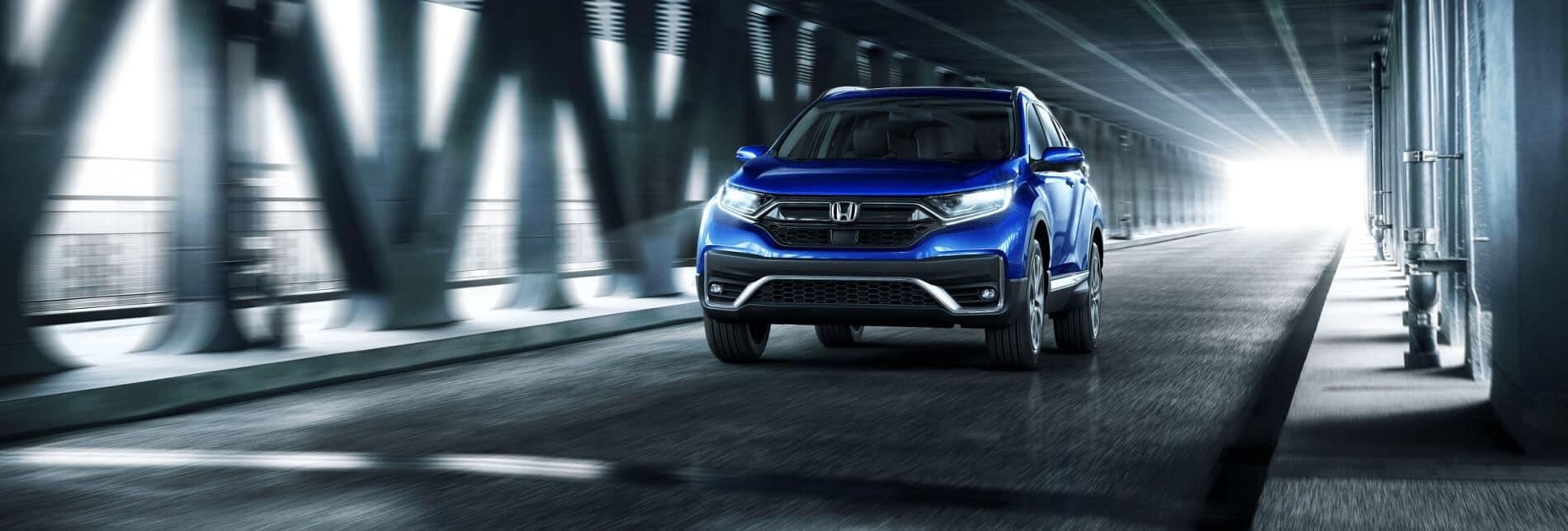 Blue Honda CR-V
