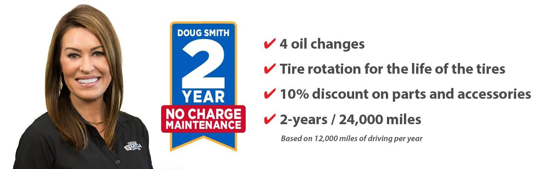 2 Year No Charge Maintenance at Doug Smith Chevy Dealer in Spanish Fork Utah