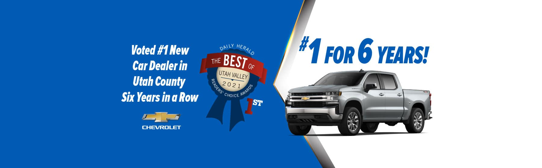 Doug Smith Chevrolet Voted Best of Utah for 6 Years