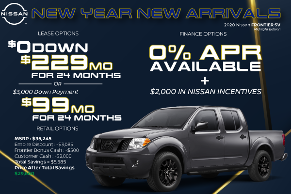 2020 Nissan Frontier SV | Best Lease and Purchase Offer