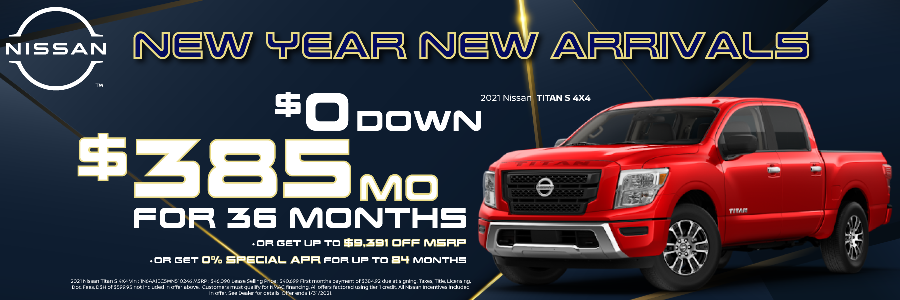 2021 Nissan Titan Lease and Purchase Offers