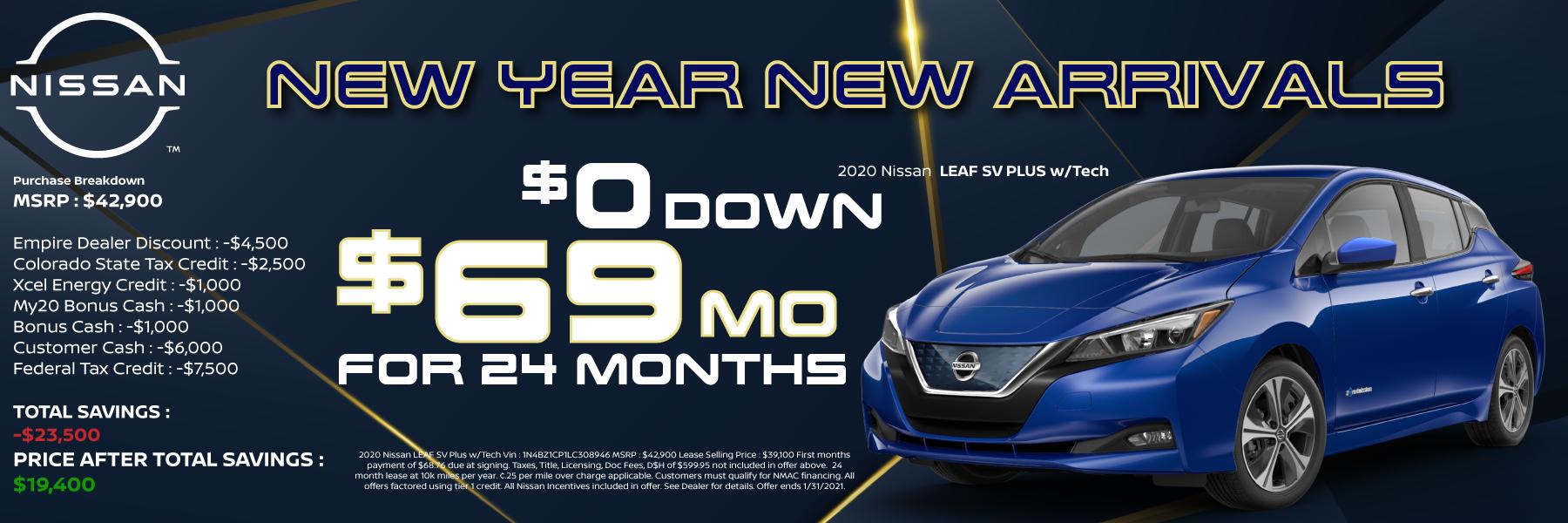 2020 Nissan LEAF SV Plus Best Specials