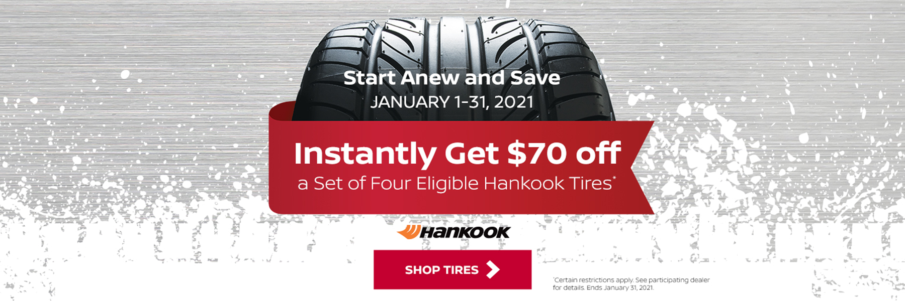 Hankook $70 Rebate - Empire Lakewood Nissan