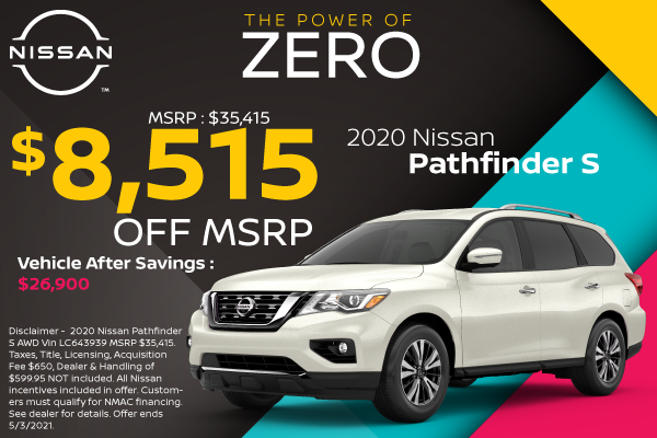 2020 Nissan Pathfinder | Best Lease and Purchase Offers