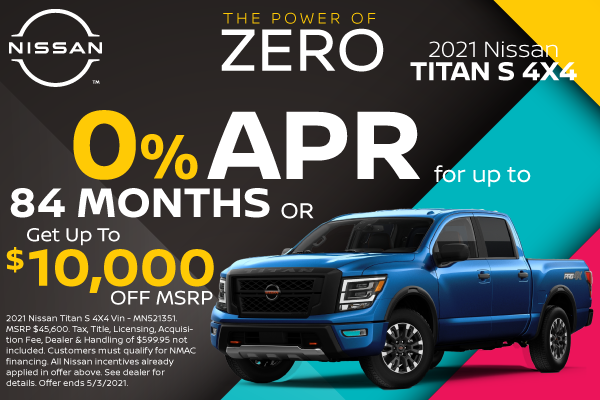 SPECIAL New 2021 Nissan TITAN 4X4