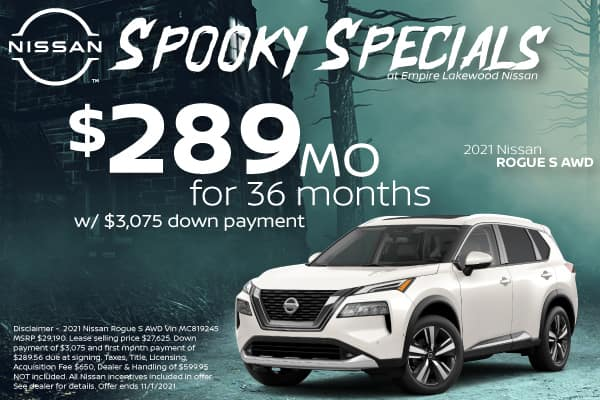 Lease Special 2021 Nissan Rogue S AWD