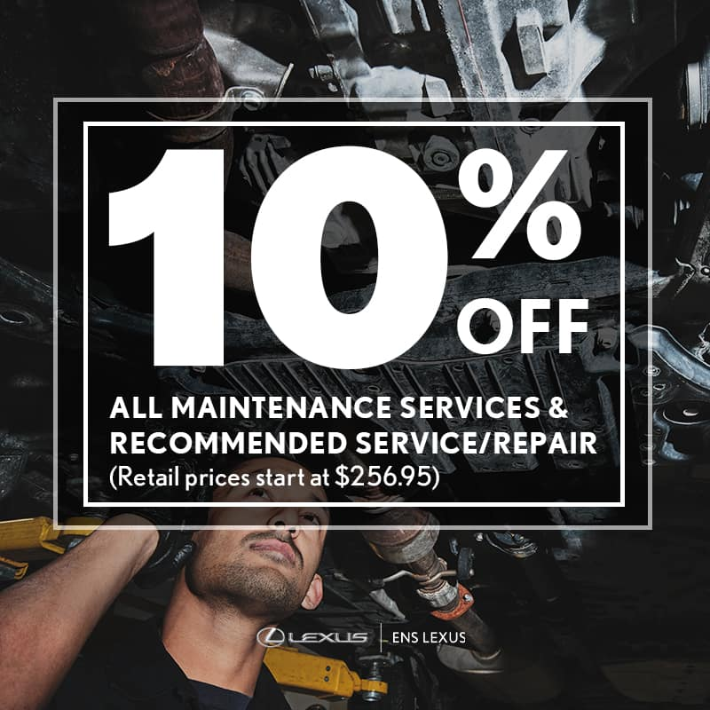 10% Off maintenance services at Ens Lexus