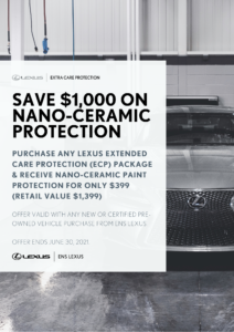 save 1000 on nano ceramic protection with ecp purchase at ens lexus