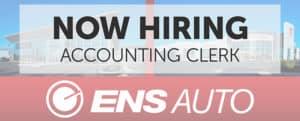 Ens Toyota Hiring Accounting Clerk