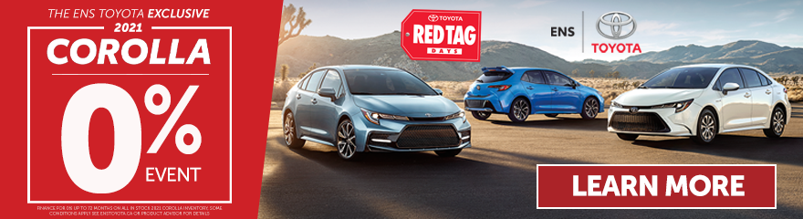 Ens Toyota Corolla 0% event only at Ens