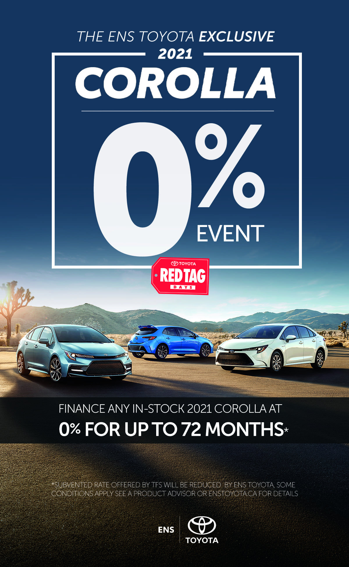 finance a 2021 corolla for 0% for up to 72 months