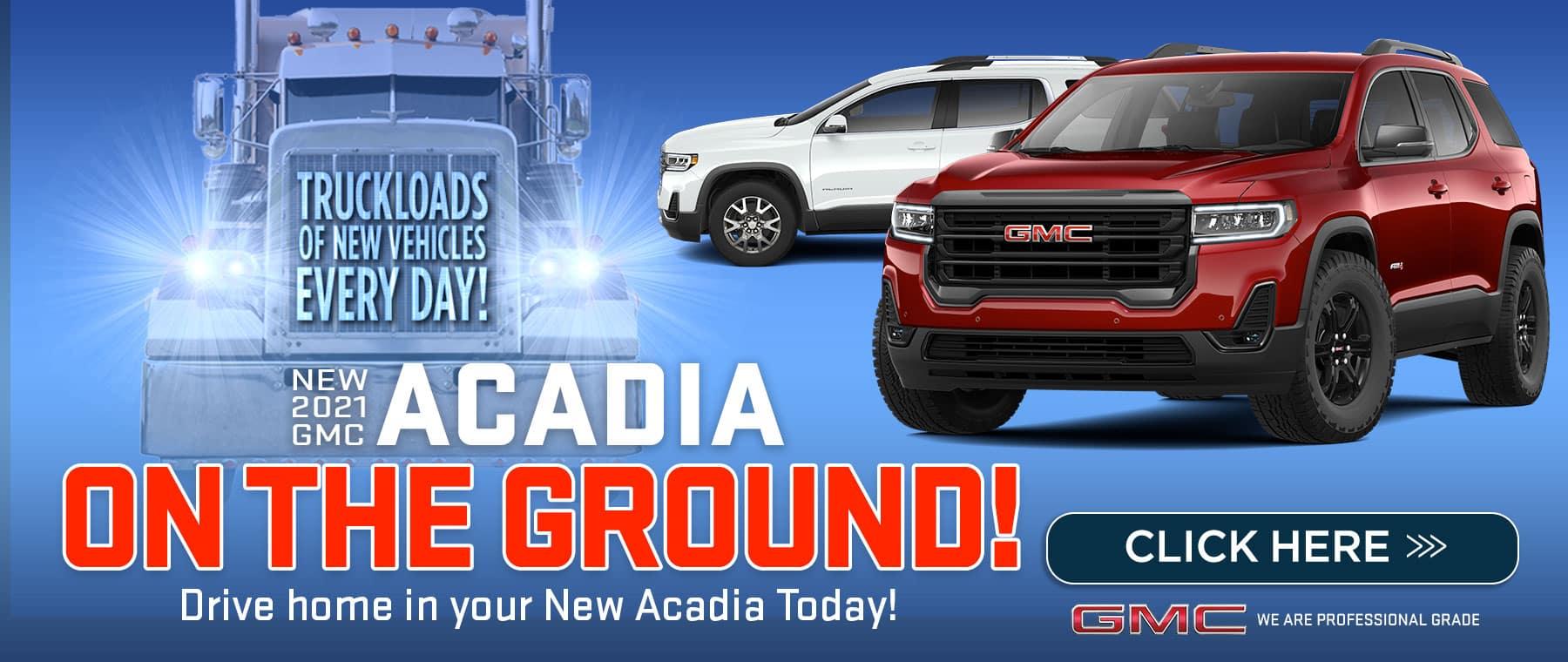 New 2021 GMC Acadia - On the ground