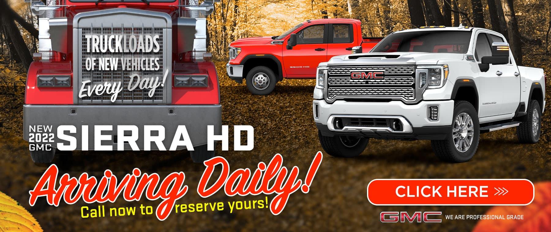 New 2022 GMC Sierra HD - Arriving Daily