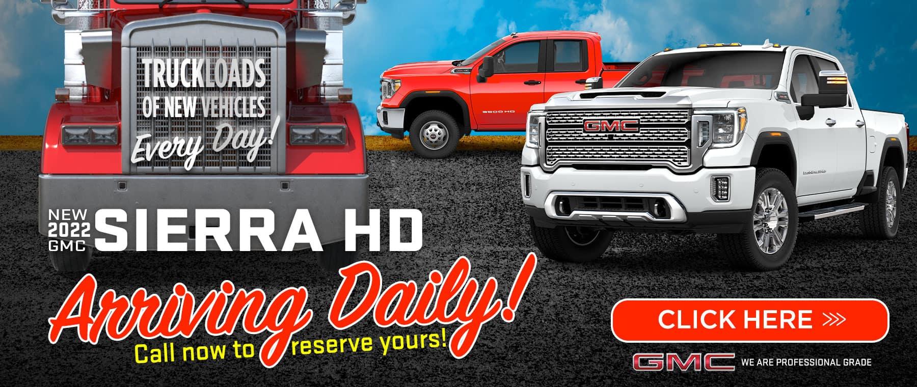 New 2021 GMC Sierra HD - Arriving Daily