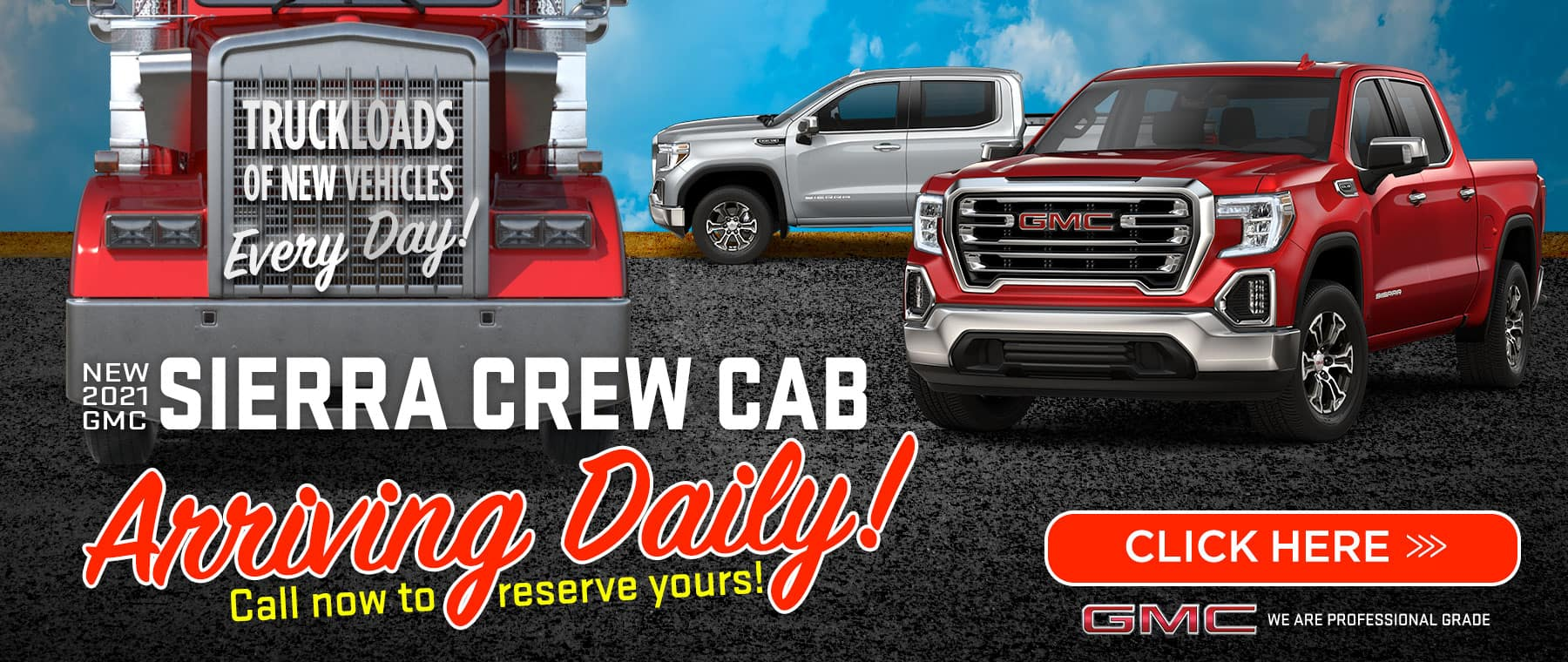 New 2021 Sierra Crew Cab - Arriving Daily