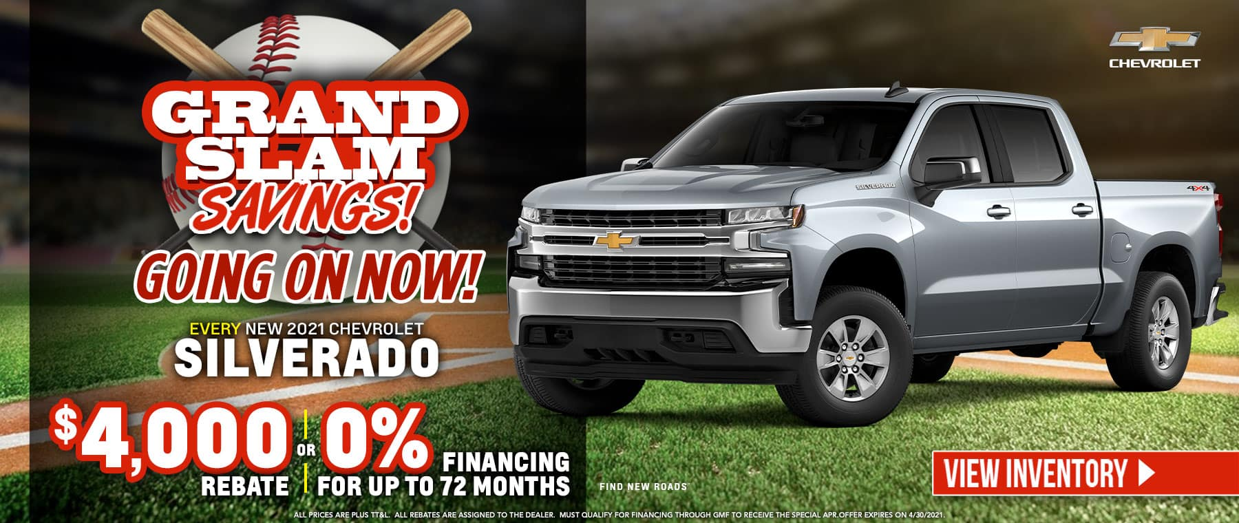 New 2021 Chevrolet Silverado - $4000 Rebate or 0% Financing for up to 72 Months