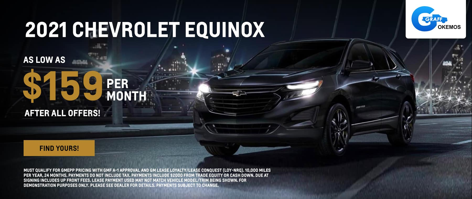 2021 Chevy Equinox AS LOW AS $159 PER MONTH AFTER ALL OFFERS!*