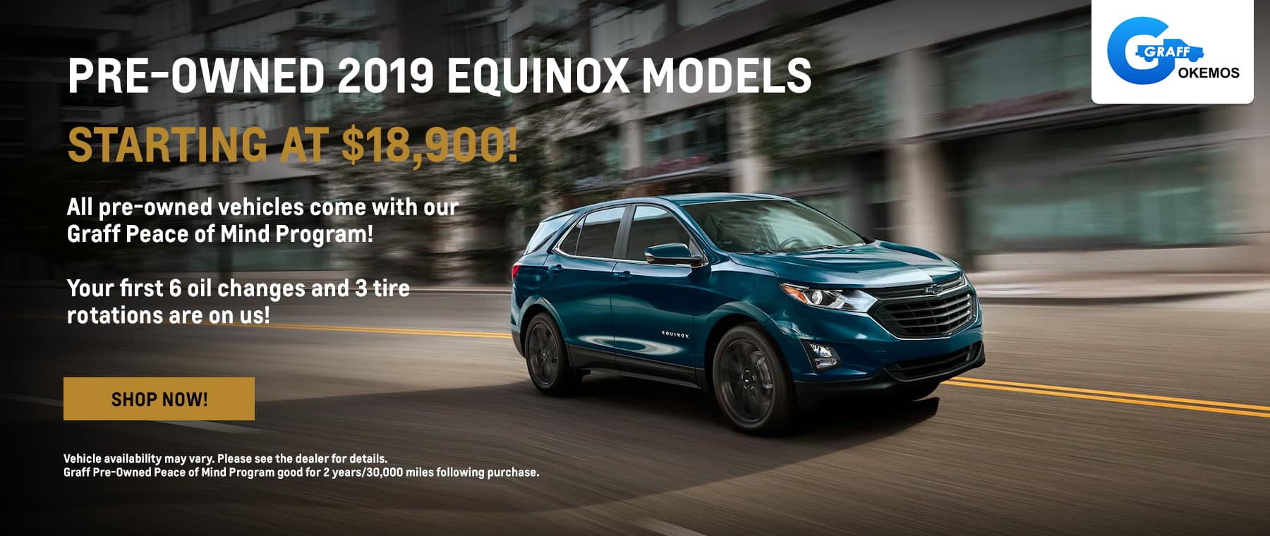 Pre-Owned 2019 Equinox Models Starting at $18,900!