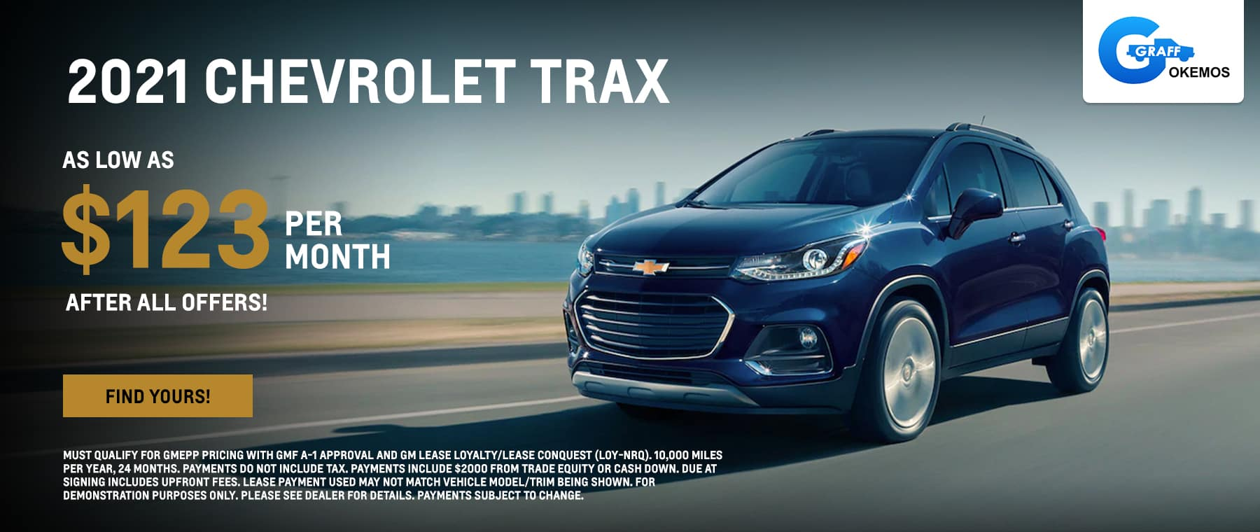 2021 Chevy Trax AS LOW AS $123 PER MONTH AFTER ALL OFFERS!*