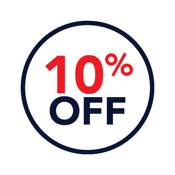 10% off labor service coupon icon