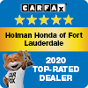 Holman Honda of Fort Lauderdale Carfax 2020 Top-Rated Dealer Award
