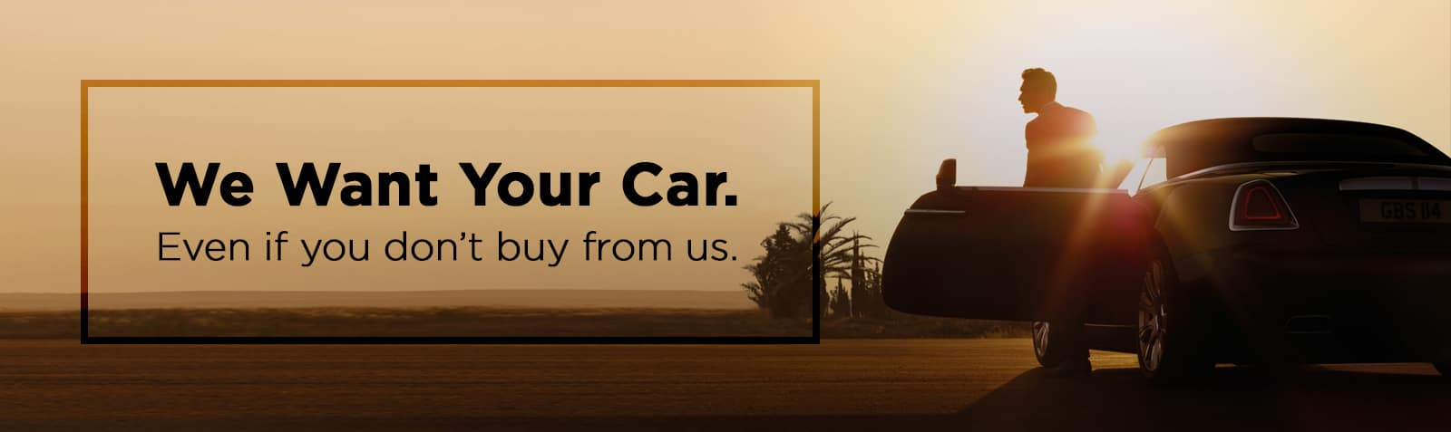 we want your car banner