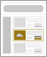 find a car on website icon