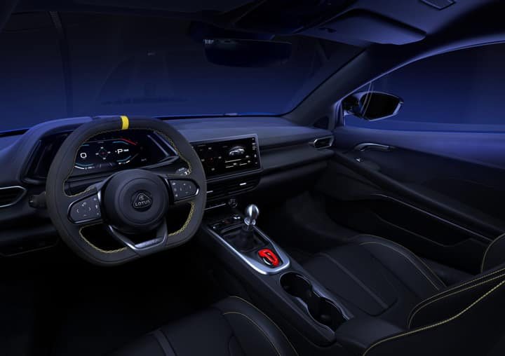 Interior view of the 2022 Lotus Emira