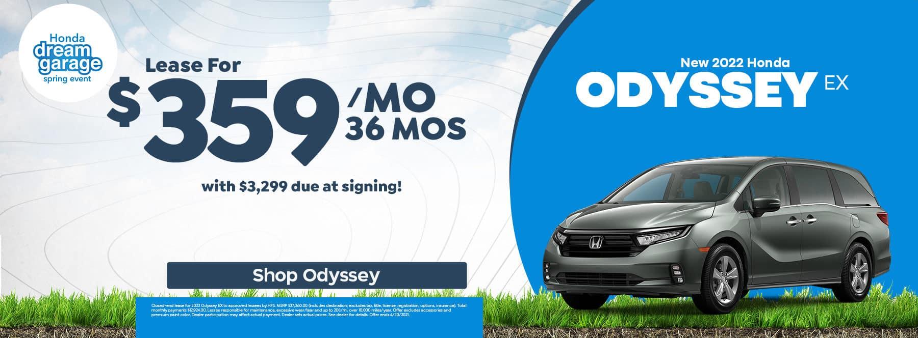 Lease 2022 Honda Odyssey - Roswell, GA