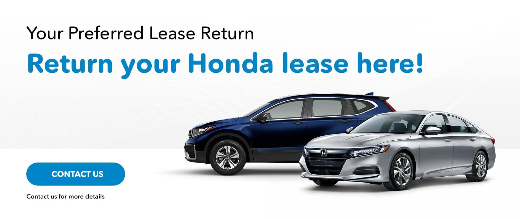 Your Preferred Lease Return, Return your Honda lease here!