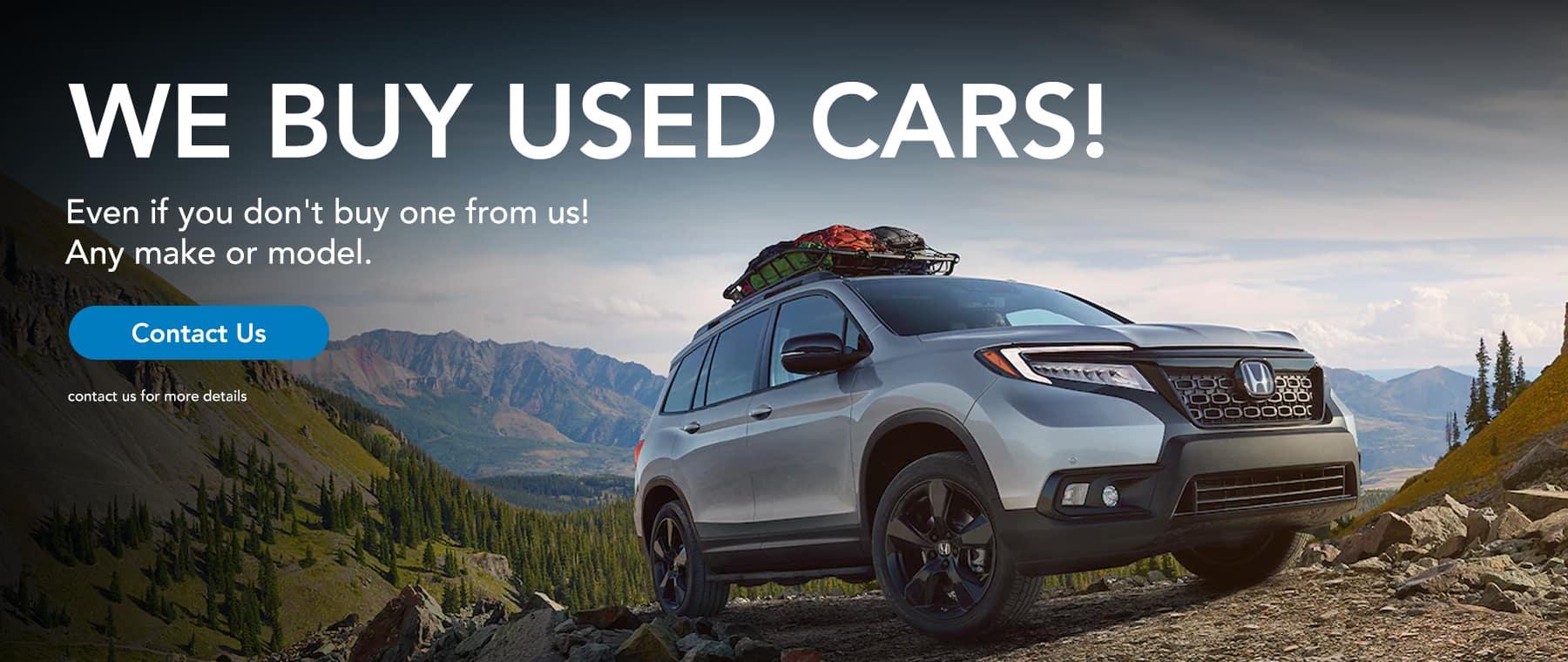 We buy used cars!